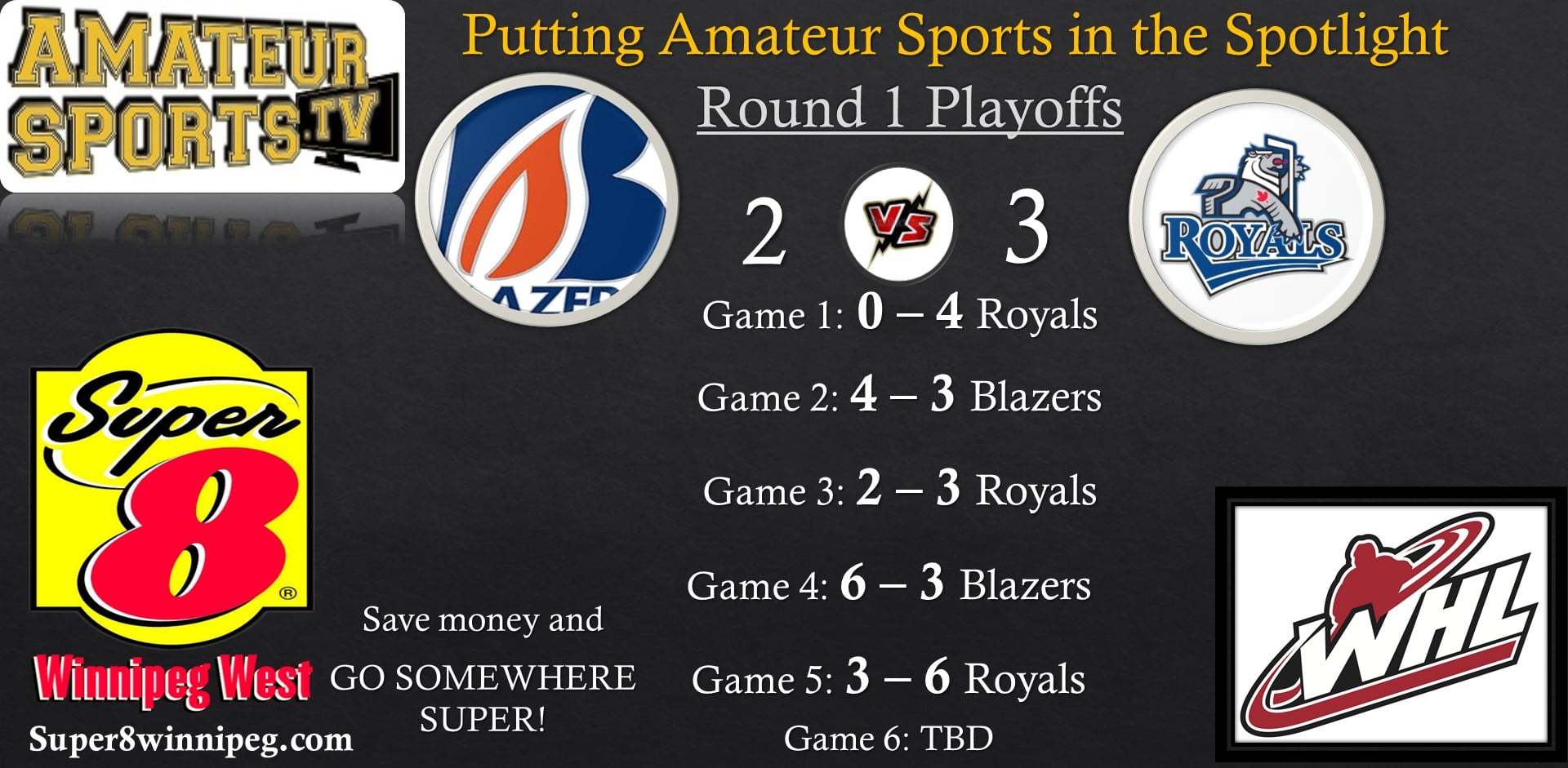 2 Royals vs Blazers