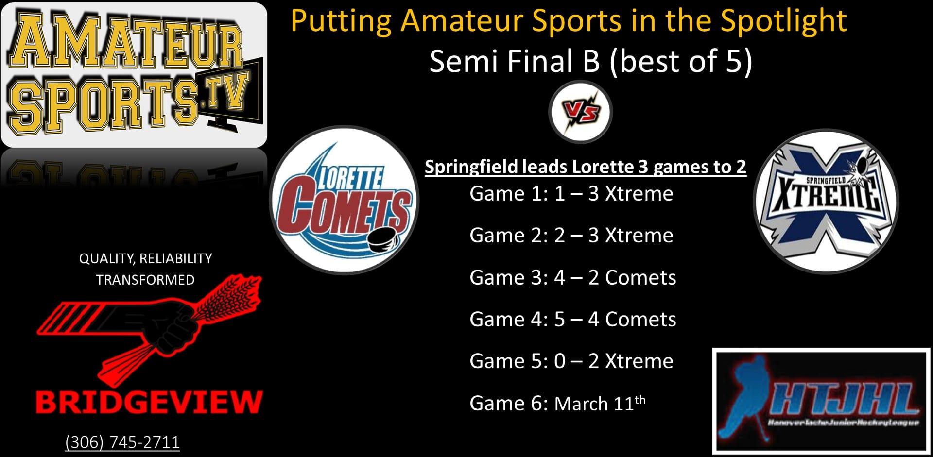 Comets vs Xtreme